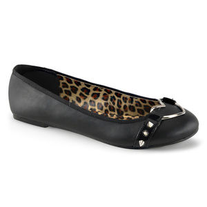 Shoes - Heart Studded Gothic Shoes Goth Ballet Flats Punk